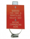 Tank Warning Label - Tank is Manifolded