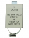 Tank Warning Label - Tank Fitted with Overfill