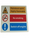 Petroleum Hazard Sign - Rigid